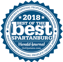 2018 Best of the best spartanburg's official peoples choice award by herald journal