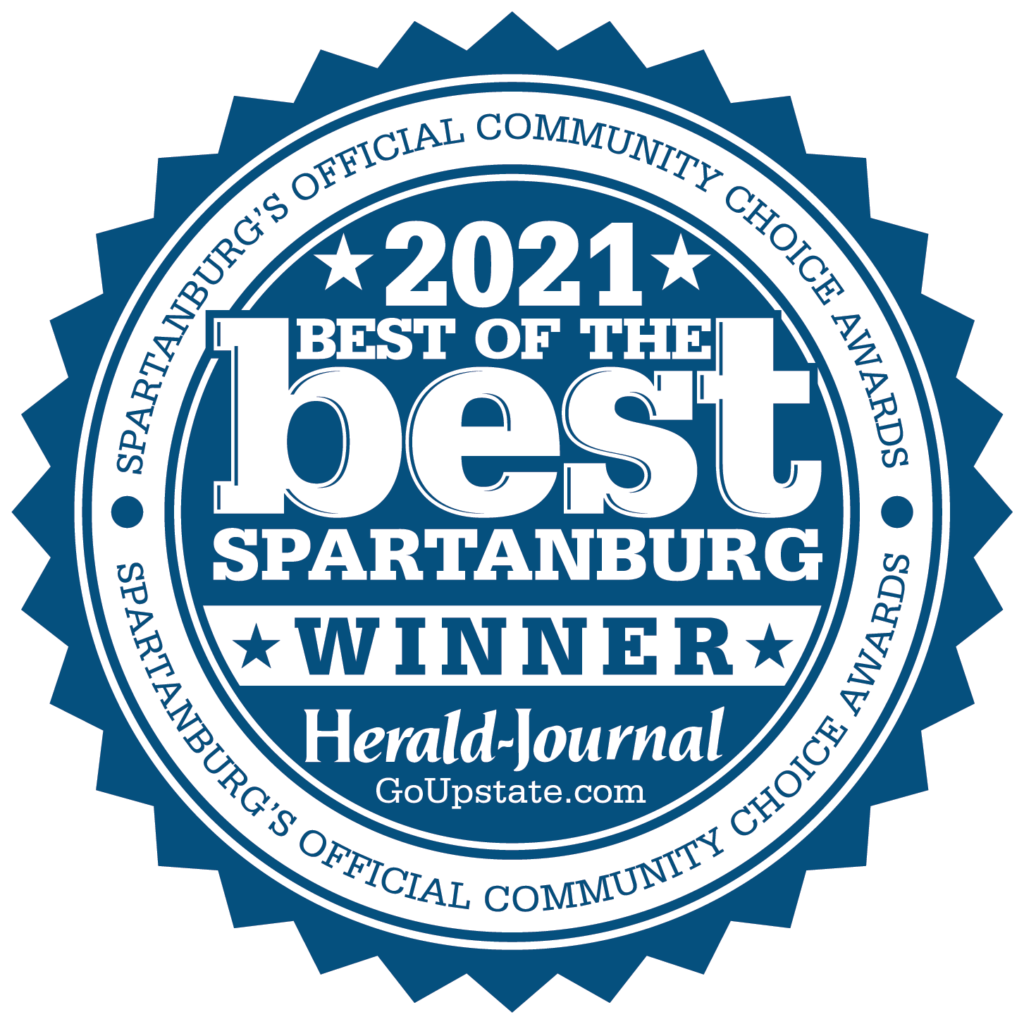 2021 Best of the best spartanburg's official peoples choice award by herald journal