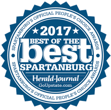 2017 Best of the best spartanburg's official peoples choice award by herald journal